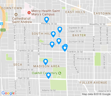 map of Madison Area apartments for rent