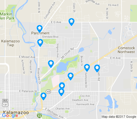 map of Burke Acres apartments for rent