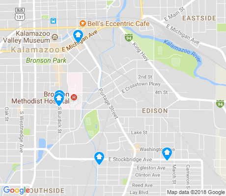map of Edison apartments for rent