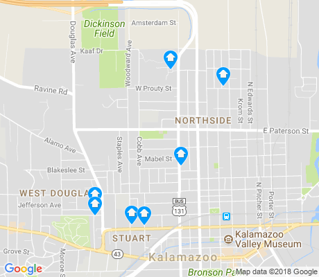 map of Northside apartments for rent