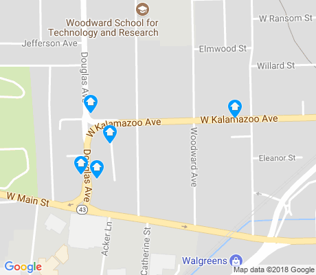map of Sloan apartments for rent
