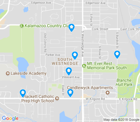 map of South Westnedge apartments for rent