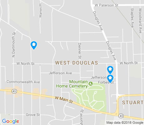 map of West Douglas apartments for rent