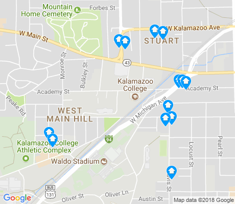map of West Main HIll apartments for rent