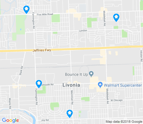 map of Livonia apartments for rent