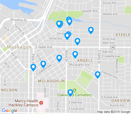 map of Angell apartments for rent
