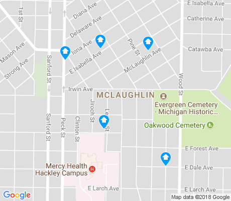 map of McLaughlin apartments for rent
