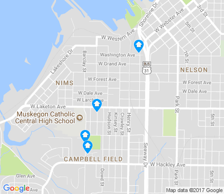 map of Nims apartments for rent