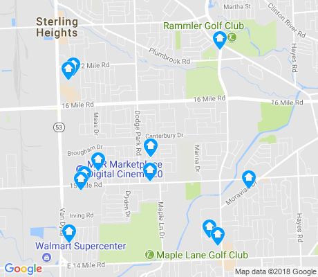 map of 48312 apartments for rent