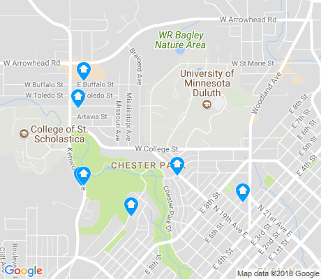 map of Chester Park apartments for rent