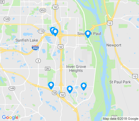 map of Inver Grove Heights apartments for rent