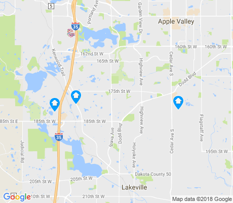 map of Lakeville apartments for rent