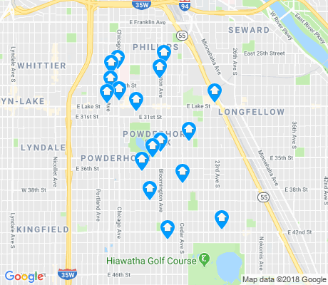 map of 55407 apartments for rent