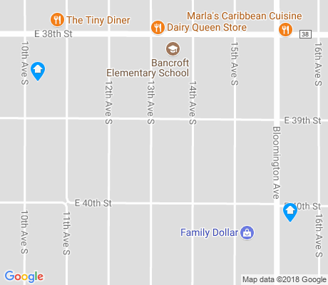 map of Bancroft apartments for rent