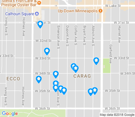 map of CARAG apartments for rent