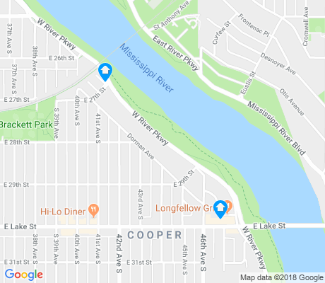 map of Cooper apartments for rent