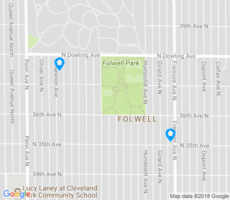 map of Folwell apartments for rent