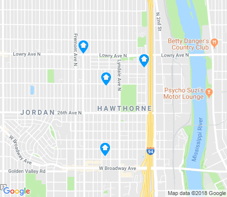 map of Hawthorne apartments for rent