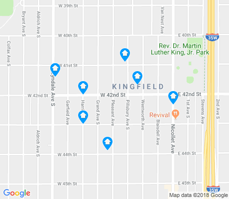 map of Kingfield apartments for rent