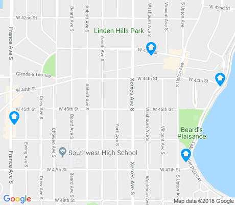map of Linden Hills apartments for rent