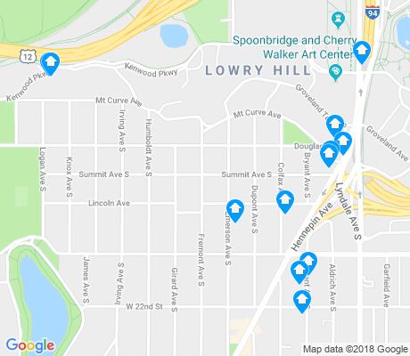 map of Lowry Hill apartments for rent