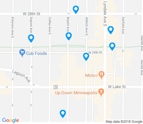 map of Lyn Lake apartments for rent