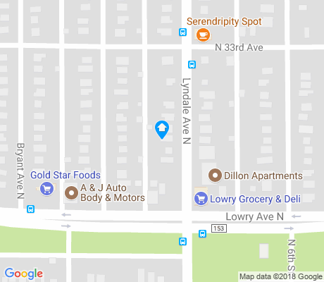 map of McKinley apartments for rent