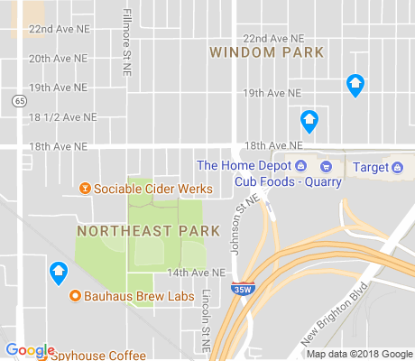 map of Northeast Park apartments for rent