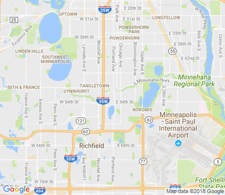 map of Page apartments for rent