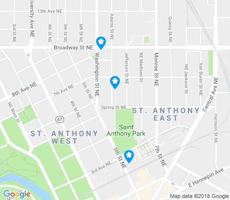 map of St. Anthony East apartments for rent