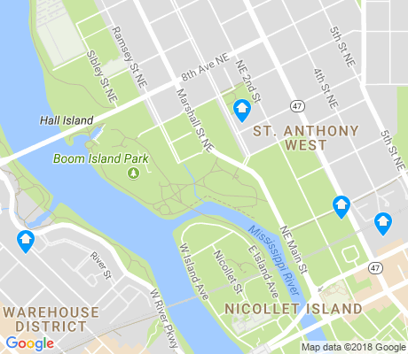 map of St. Anthony West apartments for rent
