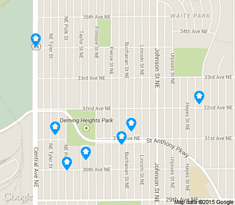 map of Waite Park apartments for rent