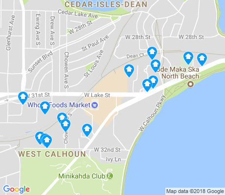 map of West Calhoun apartments for rent