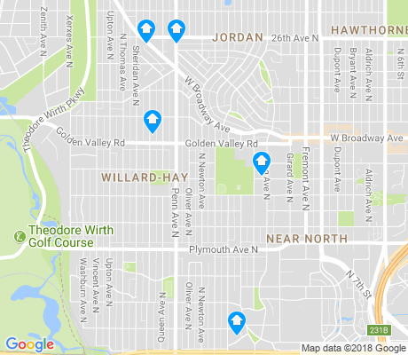 map of Willard-Hay apartments for rent
