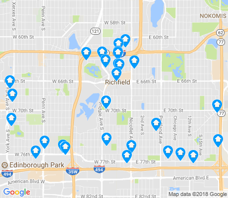 map of Richfield apartments for rent