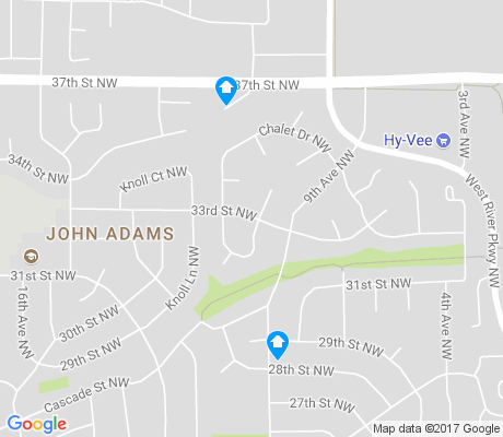 map of John Adams apartments for rent