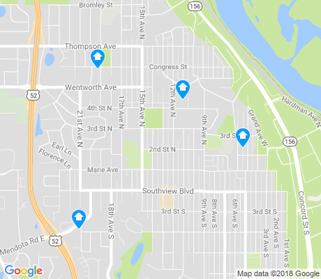 map of South St. Paul apartments for rent