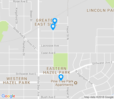 map of Eastern Hazel Park apartments for rent
