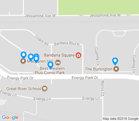 map of Energy Park apartments for rent