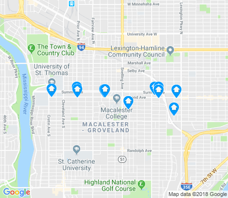 map of Macalester - Groveland apartments for rent
