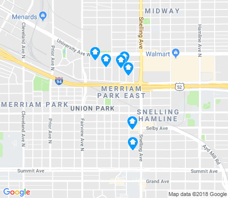 map of Merriam Park East apartments for rent