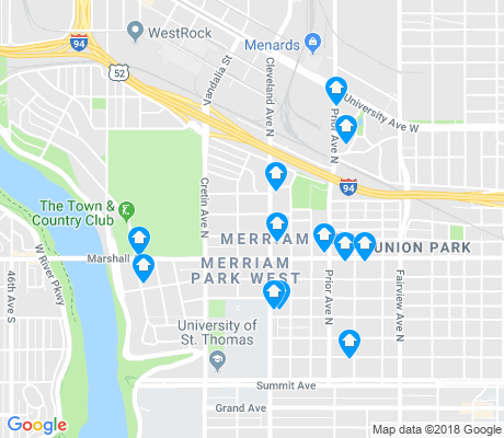 map of Merriam Park West apartments for rent