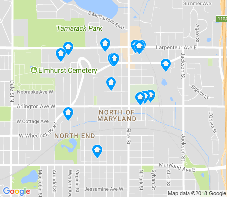 map of North of Maryland apartments for rent