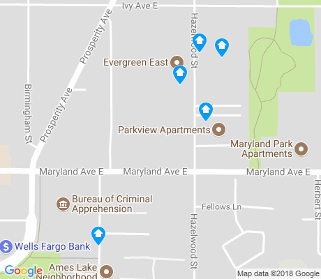 map of Prosperity Heights apartments for rent