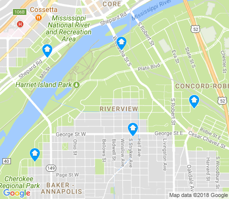 map of Riverview apartments for rent