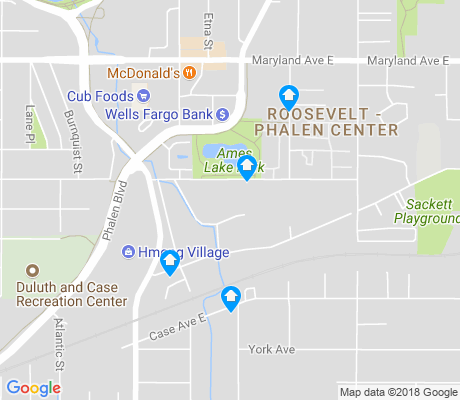 map of Roosevelt - Phalen Center apartments for rent