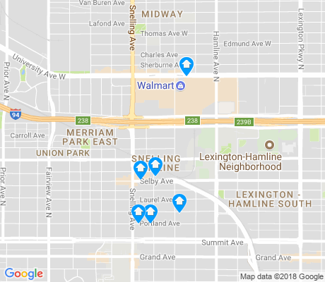 map of Snelling Hamline apartments for rent