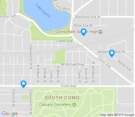 map of South Como apartments for rent