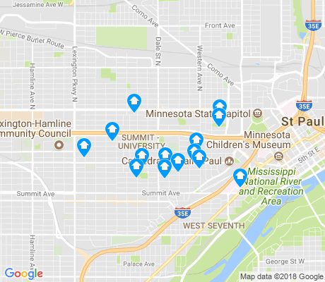map of Summit - University apartments for rent
