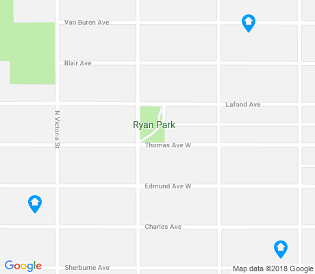 map of West Frogtown apartments for rent